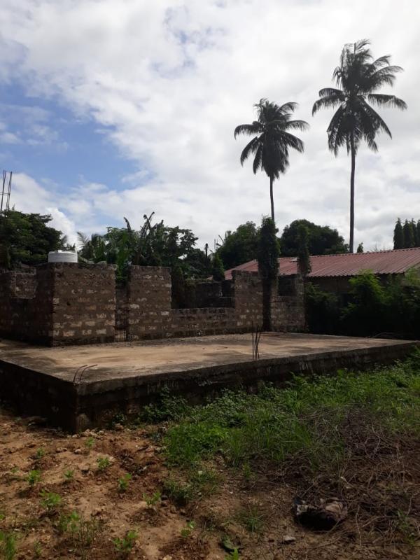 FOR SALE HALF BUILT 4 BEDROOMS HOUSE IN UTANGE BAMBURI AREA