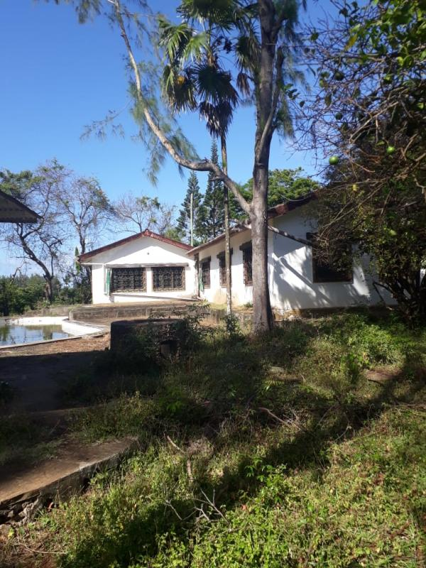 For sale half-acre plot with old bungalow kikambala on 2nd row beach